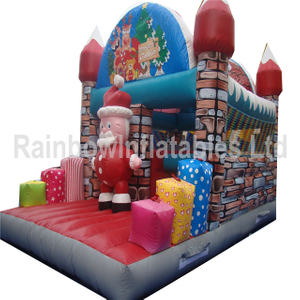RB20023(5x7x4m) Inflatable rainbow Xmas castle for sale
