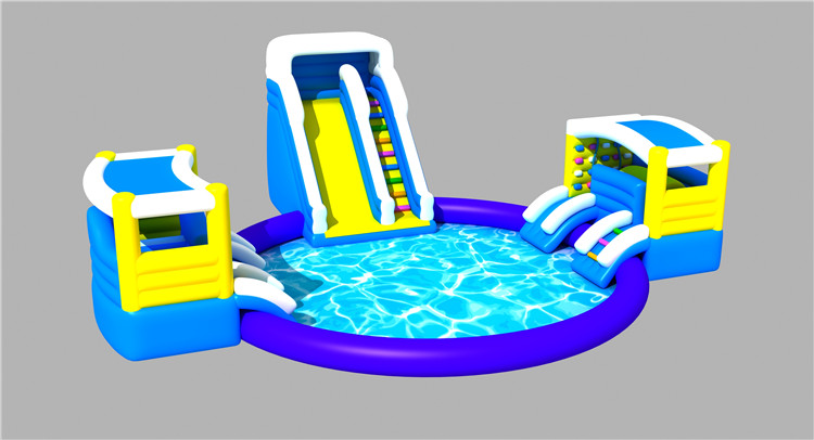 High Quality Outdoor Durable Inflatable Ground Water Park for Kids And Adults