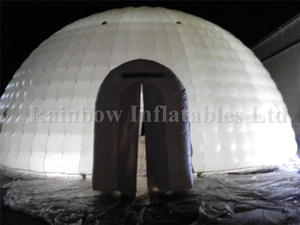 RB41020-1(dia 12m) Inflatable Outdoor event giant LED light dome tent