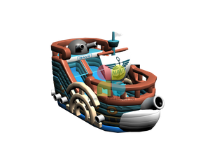 Rainbow NEW Design of Fun Pirate Ship Bouncer
