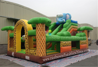 Commercial Durable Inflatable Jungle Elephane Bounce Playground
