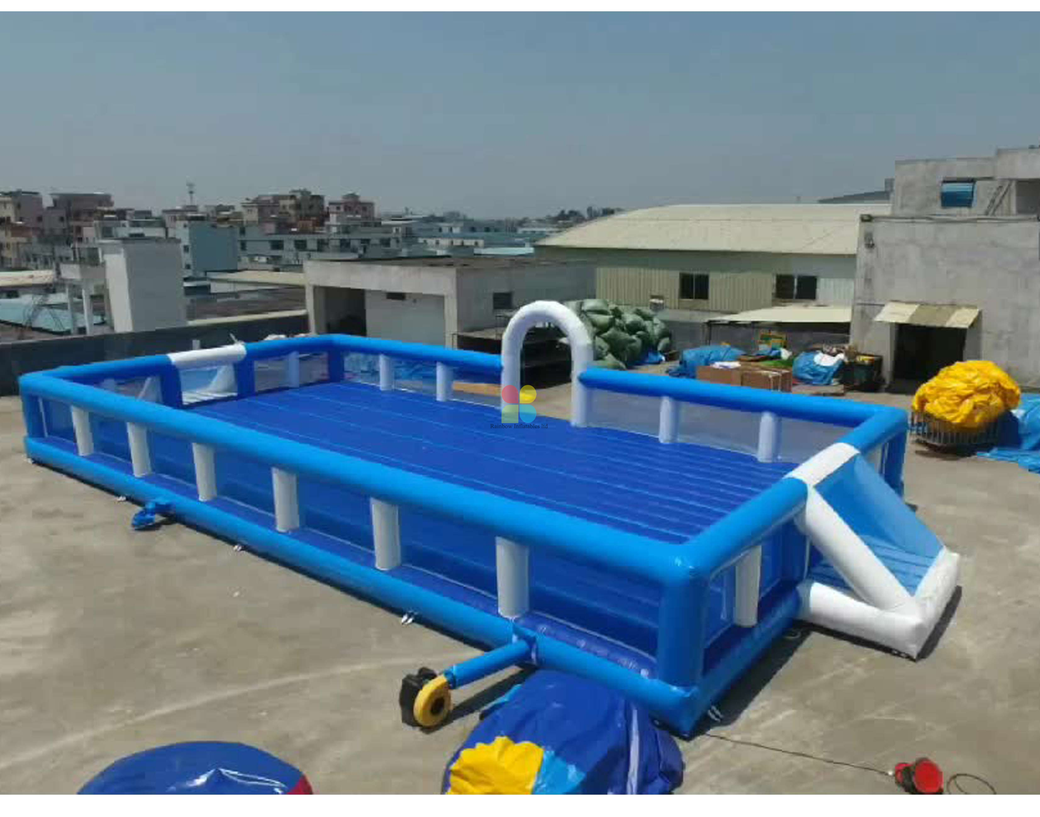 Durable PVC Inflatable Soccer Field Playground