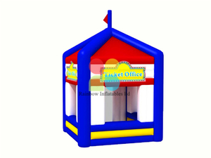 RB41040(3.5x3.5m)Inflatable Rainbow advertising tent ticket office tent