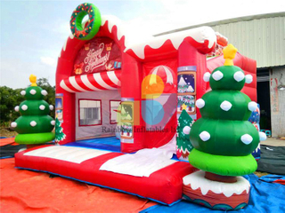 RB03009( 6x5m )Inflatables christmas tree castle for sale