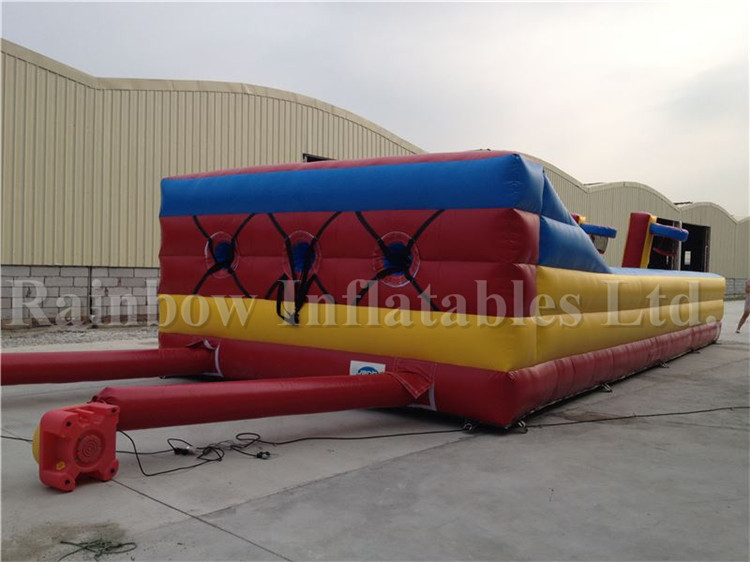 Large Indoor Commercial Inflatable 3-lane Bungee Run Game for Sale