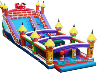 RB5031(5x14x6.5m)Inflatables disney obstacle bouncer castle