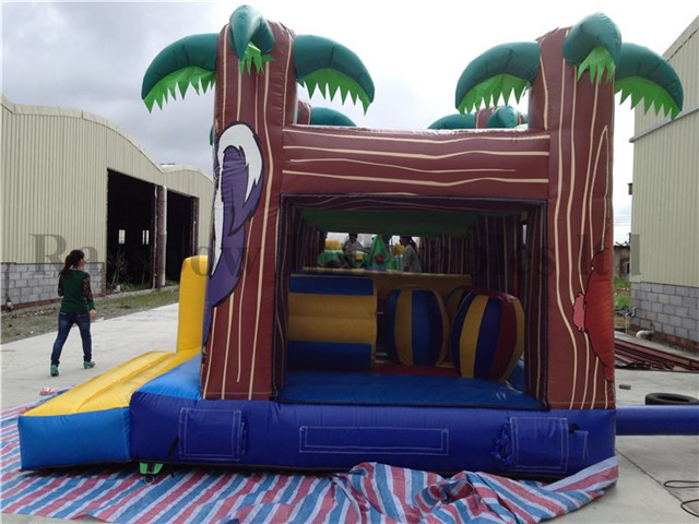 Outdoor Durable Jungle Theme Inflatable Playground for Sale
