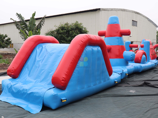 Large Commercial Inflatable Water Obstacle Course Auqa Challenge Game for Sale