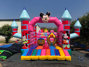 Mickey Theme Colorful Inflatable Bouncy Caslte