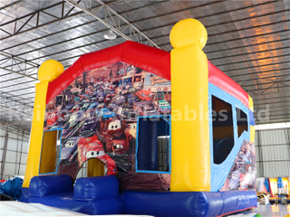 Outdoor Commercial Cars Theme Inflatable Castle for Kids