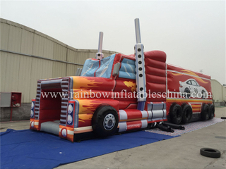 RB05006-1(15x4m)Inflatable Lorry Long Obstacle Courses for Sale