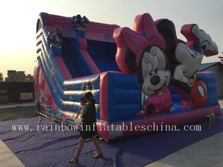 Large Outdoor Inflatable Mickey Mouse Dry Slide for Children