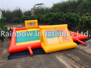 Popular Commercial Inflatable Football Court Soccer Arena Inflatable Soccer Field,water Futsal Challenge Game, 12x6m Water Soccer Game