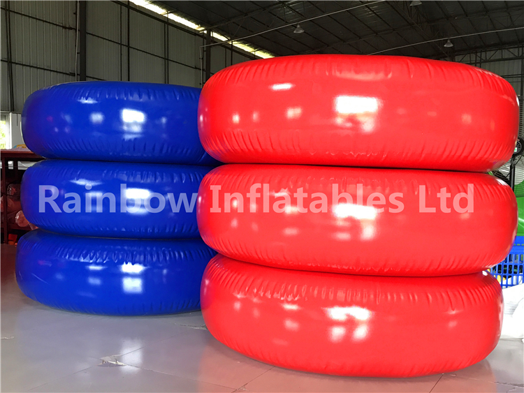 RB33027(1.5x1.5x0.35m )Inflatables red and blue swimming ring for sell