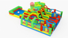 Multiple Function Inflatable Sport Theme Playground Colorful Funcity with Basketball Game Climbing Tunnel And Fun Obstacle Course