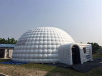 Inflatable ticket dome tent
