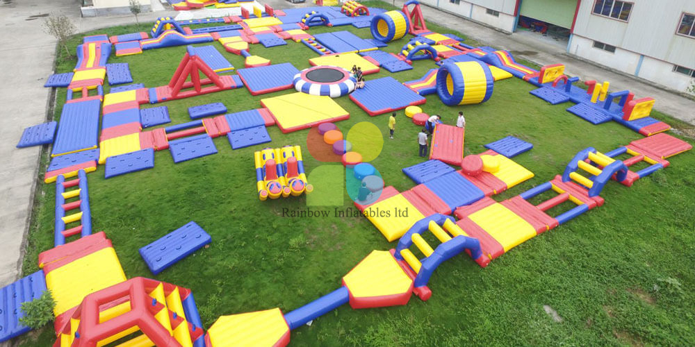 Lake Inflatable Aqua Park, Inflatable Floating Island on Sea, Inflatable Water Obstacles
