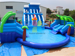 Customized Commercial Durable Inflatable Ground Water Park Aqua Park for Sale