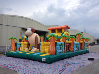 Big Commercial Inflatable Monkey Bounce Playground for Kids