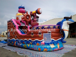RB11016(8x4m)Inflatable new design octopus theme inflatable pirate ship