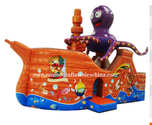 RB11001(9x4.8x5.5m)Inflatable octopus pirate ship hot sale