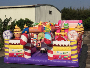 Large Commercial Candy Theme Inflatable Combo for Sale