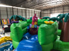 Wholesale Green Dinosaur Jump N Slide Inflatable Bouncer