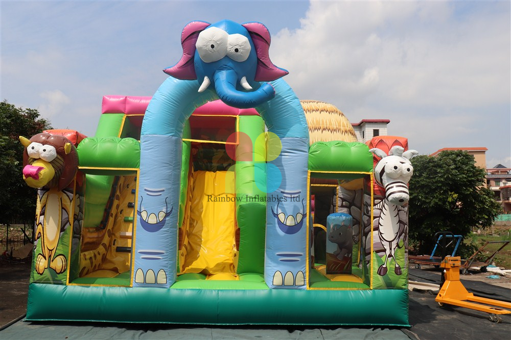 Inflatable Fun Jungle Park with Elephant