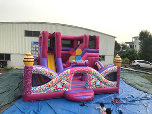 Inflatable Playground Outdoor Kids Game Inflatable Candy Playland