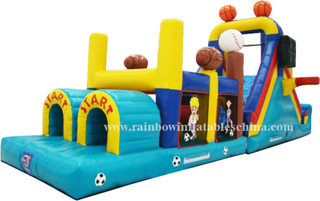 RB5022(12.2x3x4.82m) Inflatable obstacle bouncer castle inflatable jumping castle
