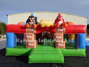 Small outside Inflatable Angry Bird Funcity Playground for Kids