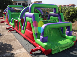 Large Outdoor Commercial Inflatable Obstacle Course Challenge Game for Sale