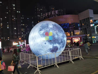 Custom Giant PVC Led Inflatable Moon Planet Ball With Led Light