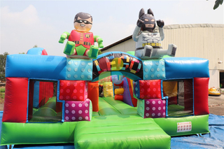 Inflatable Kid LEGO Theme Bouncy With Cartoon