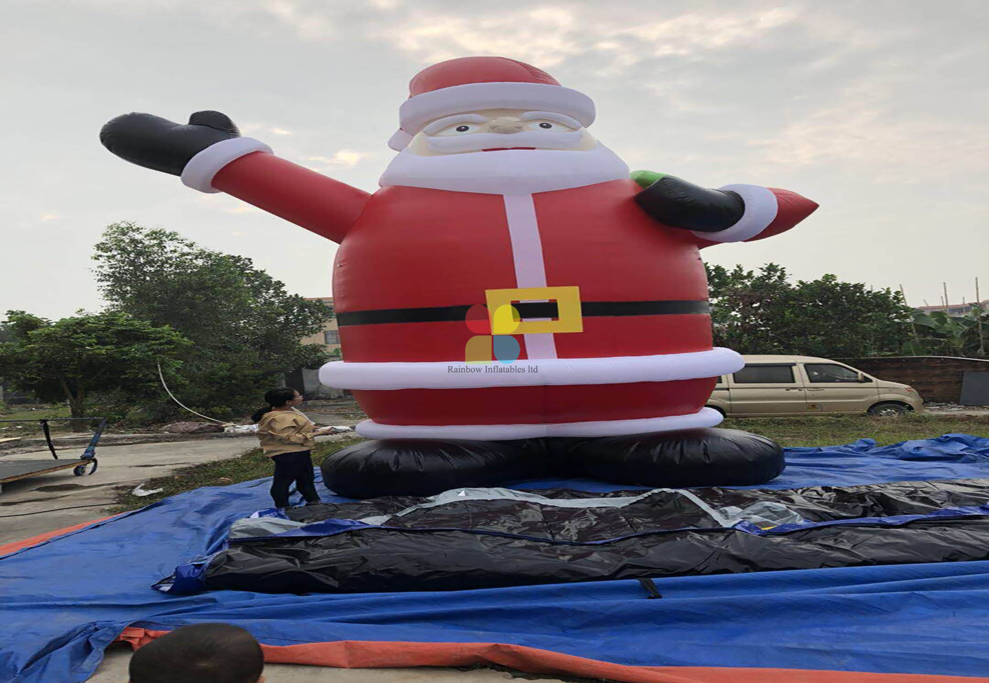 Holiday Christmas Man Blow Up Santa Claus Inflatables For Event Advertise