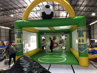 Inflatable soccer goal shooting