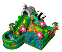 Lake Animals Inflatable Bouncer Inflatable Zoo Playground