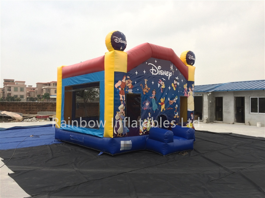 Inflatable Disney Theme Princess Bouncy Castle