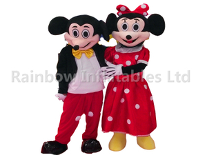 RB25010(2mH)Rainbow Hot Sale Minnie Mickey Plush cartoon costumes