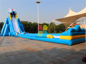 Huge Commercial Durable Inflatable Water Slide for Adults, Beach Inflatable Water Slide