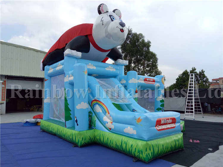 2 in 1 Commercial Inflatable Panda Theme Combo for Kids