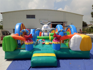 Small Indoor Commercial Inflatable Rabit Bounce Playground