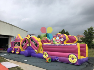 Inflatable Clown Train Obstacle