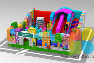 The Lastest City Theme Design Inflatable Funcity Playground,inflatable Outdoor Playground for Sale