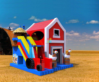 Farm Barn Inflatable Bounce House for Sale