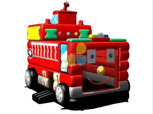 Red Inflatable Fire Truck Bouncer for Kids