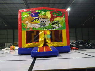 Medium Size Inflatable Ben Printing Bouncy House For Rental