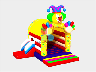 RB01031(3x4m) Inflatable Colorful Clown Fun House Bouncer for Jumping Bed