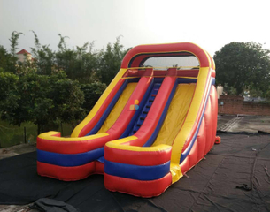 RB6099 (8x5x6m)Inflatable Rainbow double slide for child