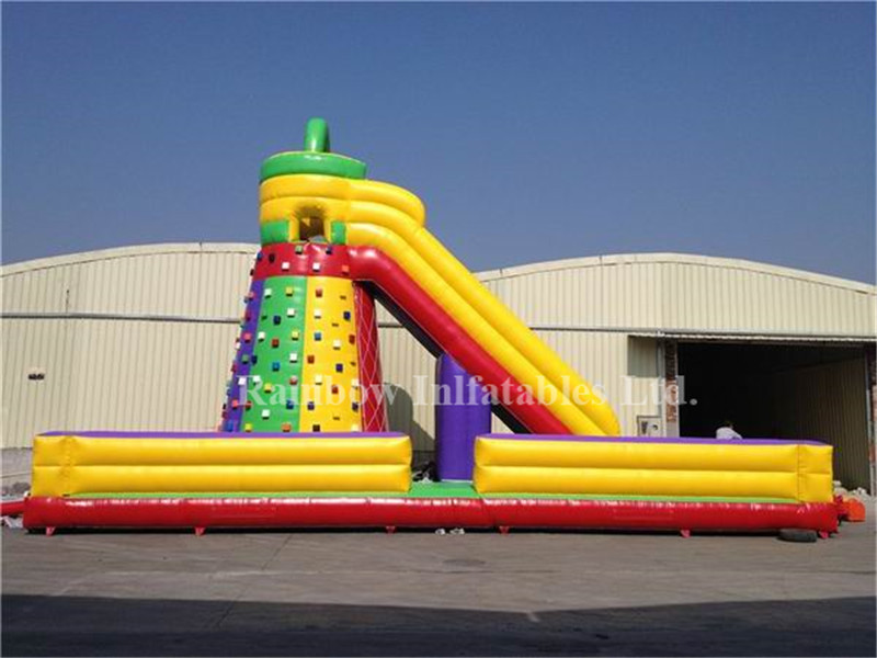Popular Outdoor Commercial Inflatable Adults Climbing Wall Climbing Mountain